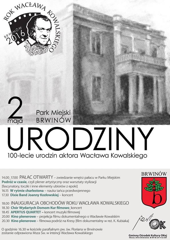 Zaproszenie Na Urodziny Aktora Wacława Kowalskiego Ur 1916
