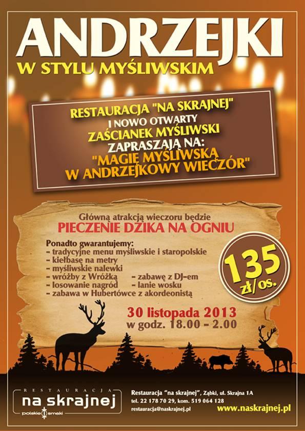 Zaproszenie Na Andrzejki Pruszków Gpr24pl